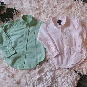 Ralph Lauren bundle button down shirts green white